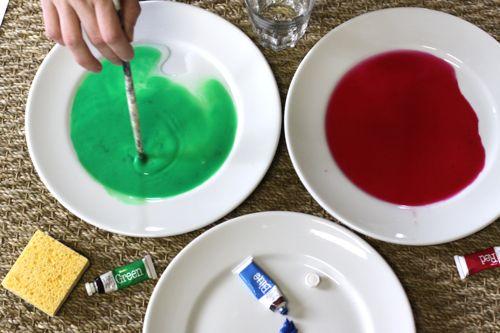 paints on plates watercolor calendar