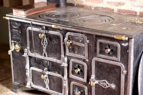 antique black stove