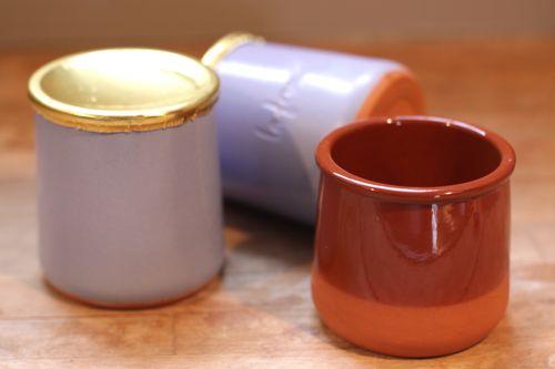 french ceramic yogurt container