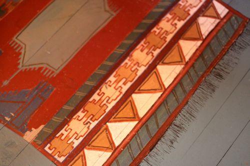 painted rug la cressonnière