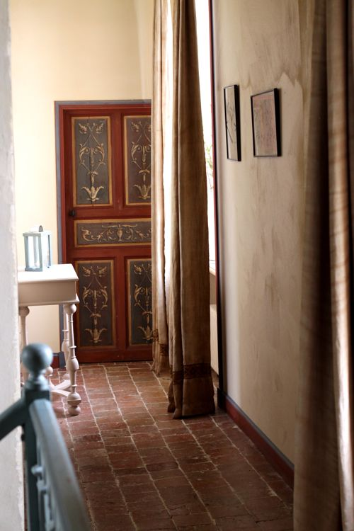 french farmhouse hallway la cressonnière
