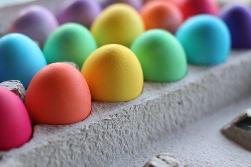 intense easter egg colors