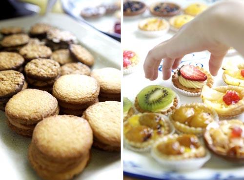 cookies fruit tartlettes