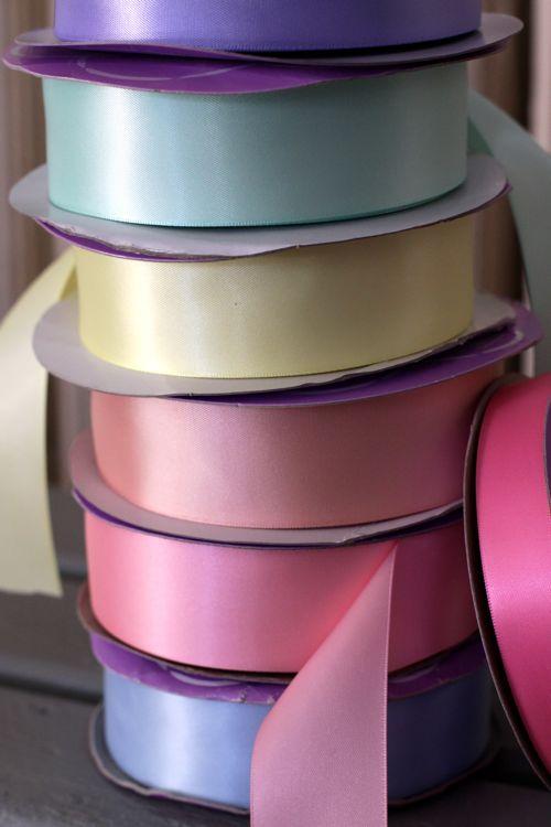 stack of ribbon