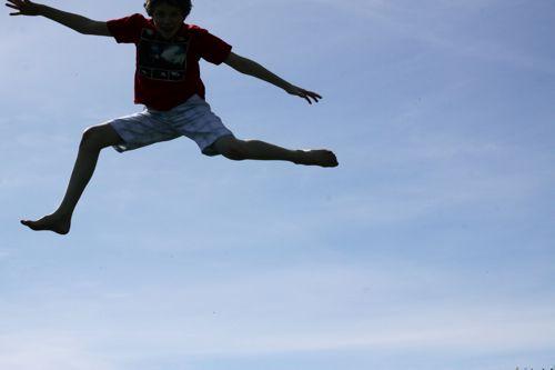 trampoline silhouette