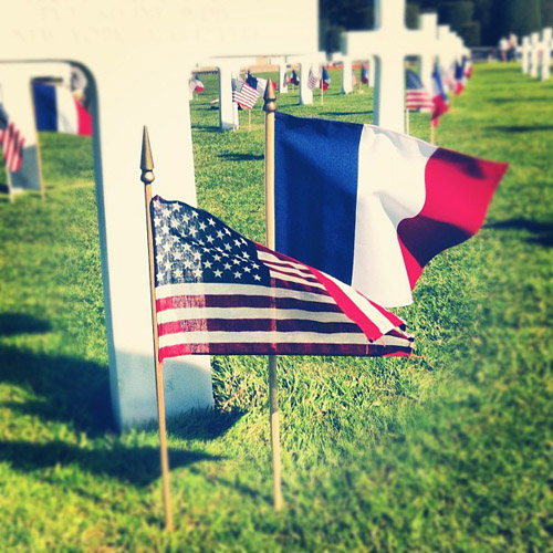 American Military Cemetery in Normandy, France