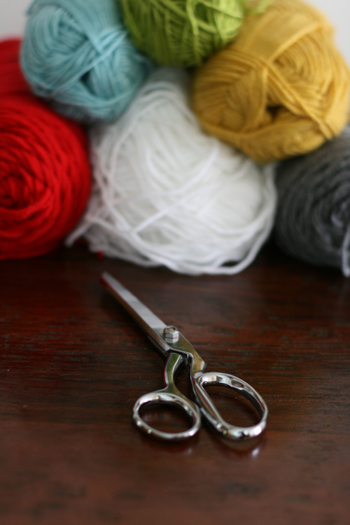 yarn and scissors