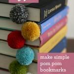 DIY yarn ball pom pom bookmark tutorial featured by top US lifestyle blogger, Design Mom