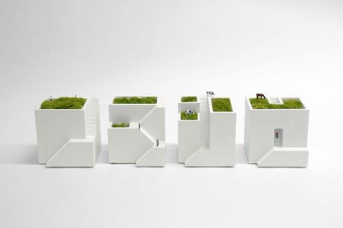 Miniature Japanese Planters