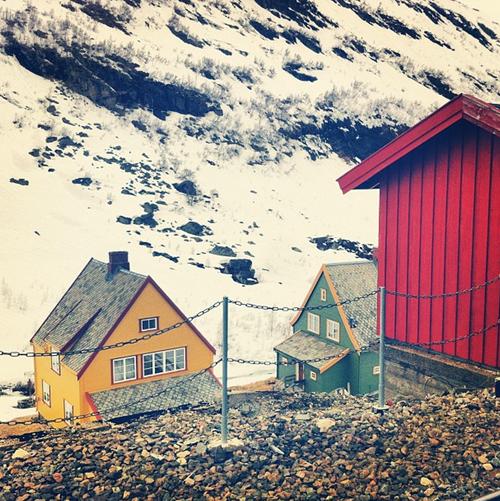 Flam Train Stop, Norway