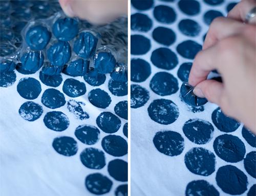 DIY: Bubble Wrap Print Tablecloth  |  Design Mom