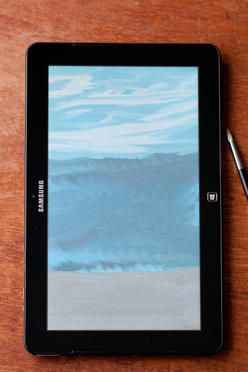 fresh-paint-app-sand-ocean-sky-painting