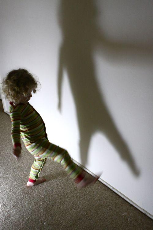 flashlight shadow dancing