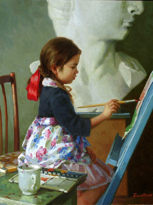 Little Artist. By Eugeni Balakshin.