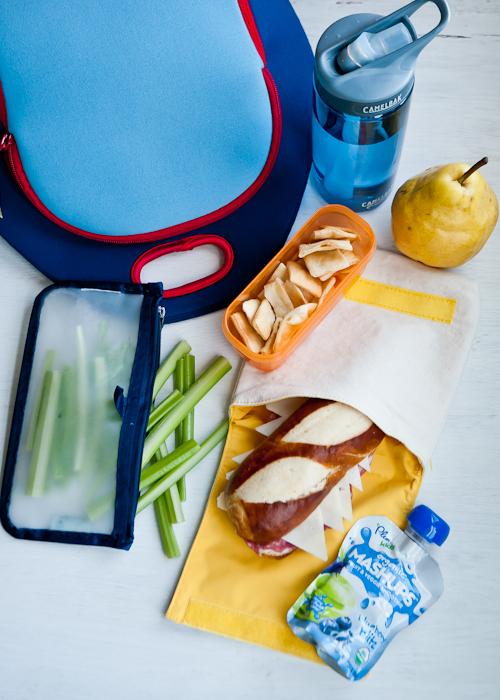 pretzel bread + salami sandwich