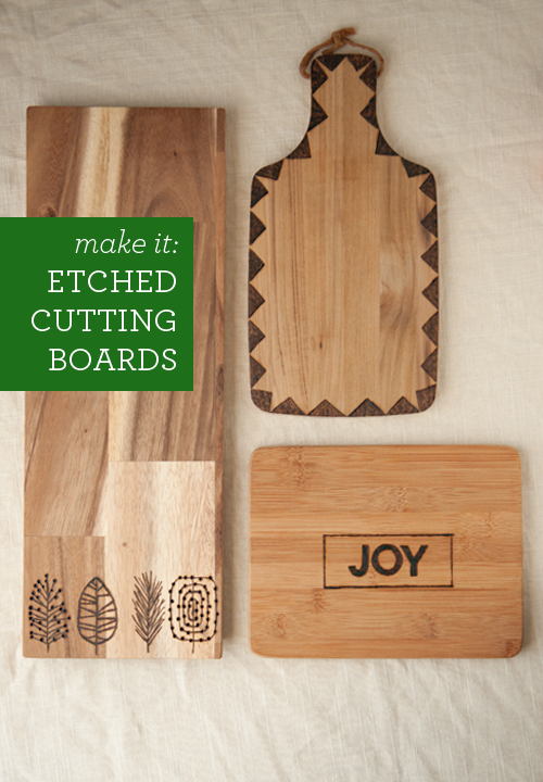 DIY: Etched Cutting Boards. So easy and they make a really cool gift. | Design Mom - Etched Cutting Board tutorial featured on top lifestyle blog, Design Mom