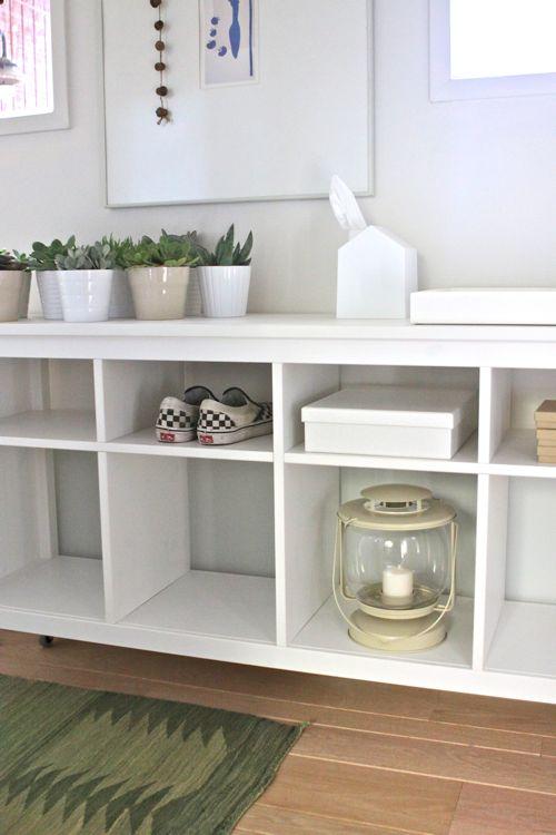 Sofa Table turned Hallway Organizer