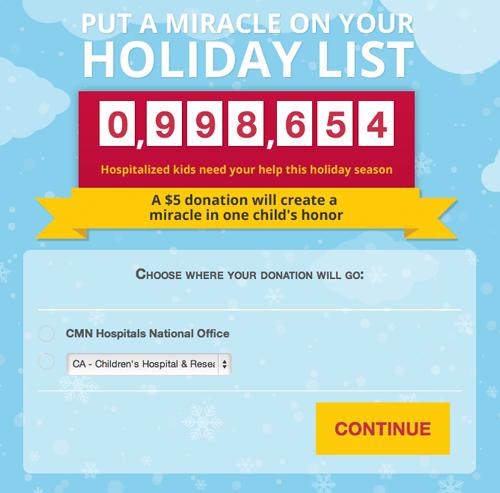 CMN Hospitals Donate Screen 2