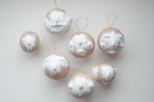 DIY Papier Maché Ornaments. Santa, Mrs. Claus & Elves!       Design Mom