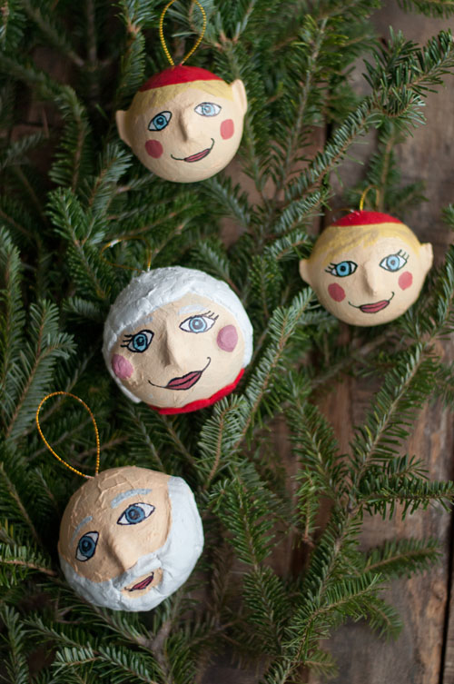 Paper Mache Christmas Ornament.Papier Mache Holiday Ornaments Design Mom