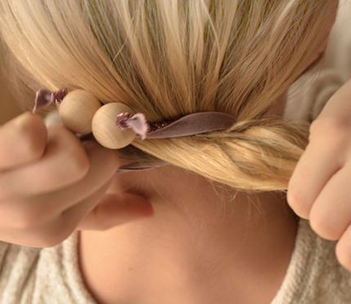 DIY Hair Twists with Wooden Beads   |   Design Mom