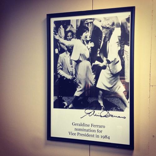 Poster in Rep Barbara Boxers Office
