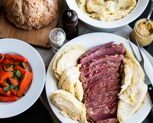 Slow Cooker Corned Beef & Cabbage. So good you will work this into your monthly rotation.   |   Design Mom