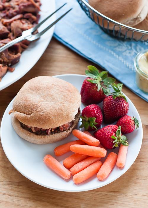 Slow Cooker Recipe: Super Easy Shredded Ham  |  Design Mom   #crockpot