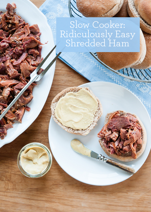 Slow Cooker Recipe: Ridiculously Easy Shredded Ham  |  Design Mom