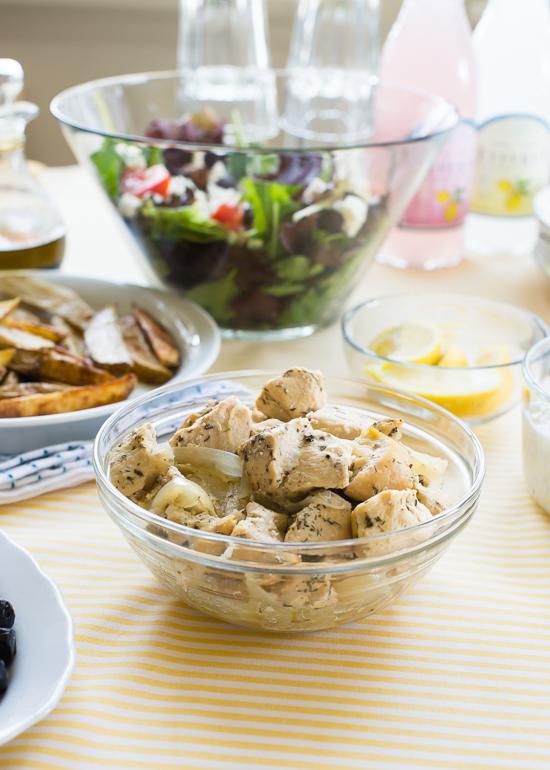 Slow Cooker Recipe: Greek Gyros   |   Design Mom  #crockpot