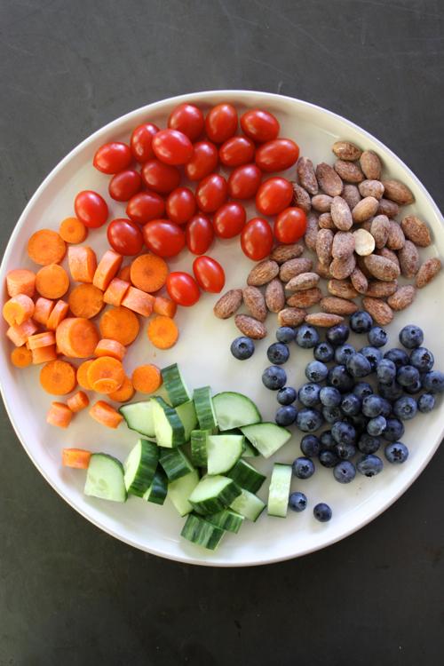 Rainbow snacks foods.