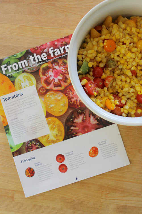 Tomatoes and Corn - a recipe from Blue Apron