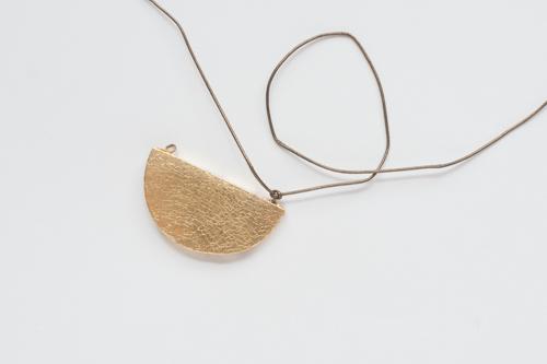 Half-Moon Pendant Necklace   Design Mom