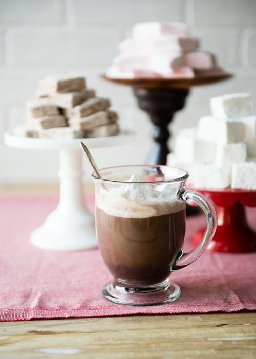 hot chocolate and homemade marshmallows