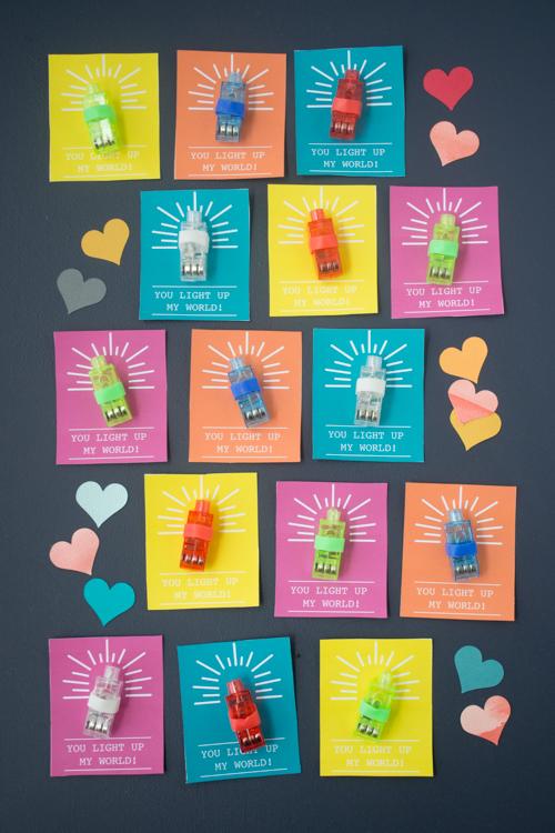 You Light Up My World, A Finger Light Valentine   Design Mom