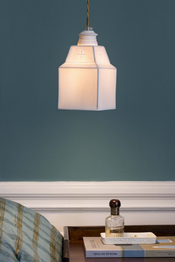 porcelain light fixture handmade in France by Alix D. Reynis
