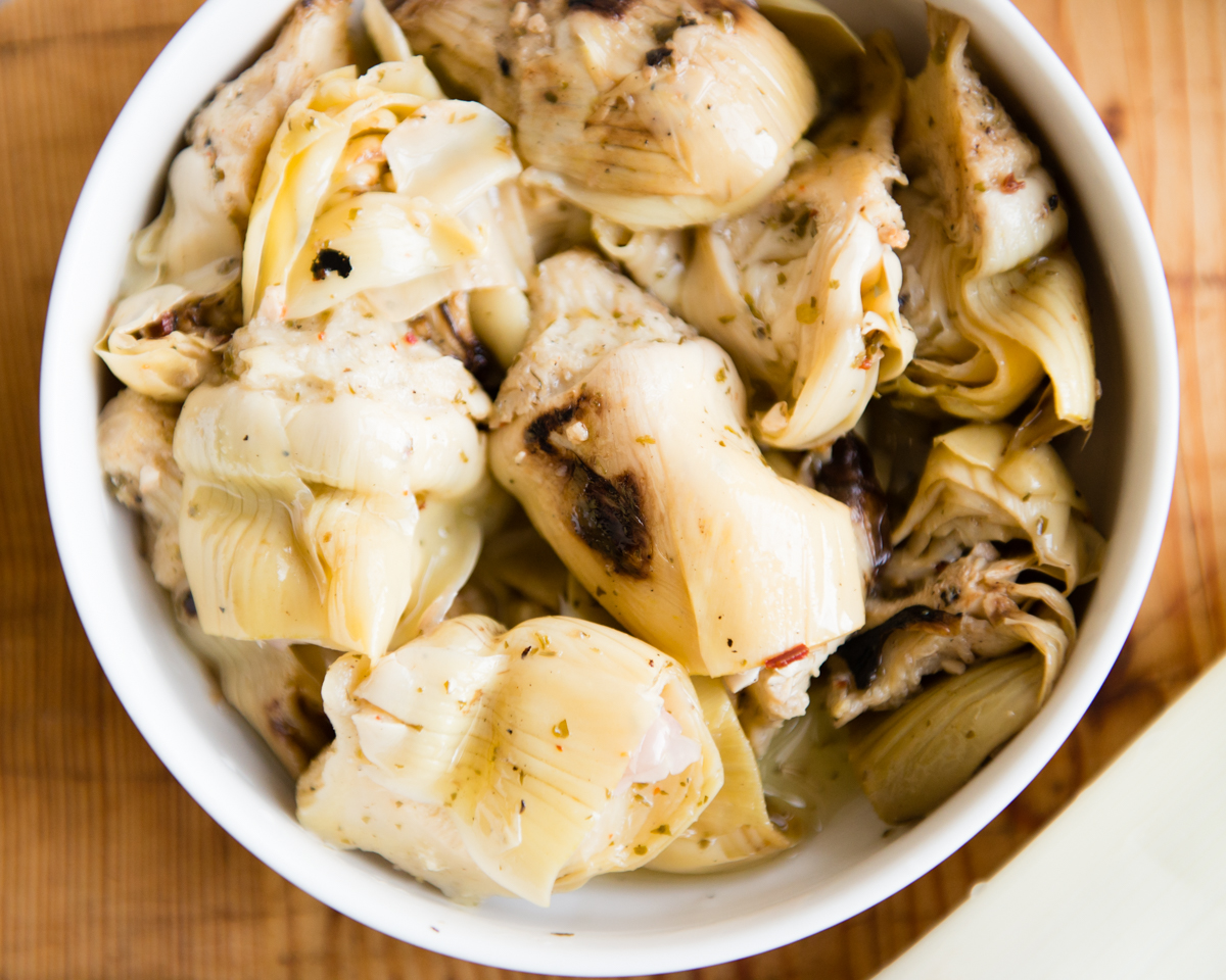 Grilled Marinated Artichoke Hearts | DesignMom.com