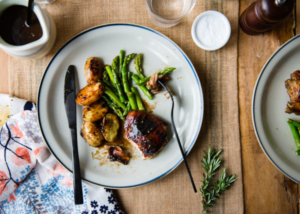 | rosemary balsamic chicken recipe featured by popular lifestyle blogger, Gabrielle of Design Mom