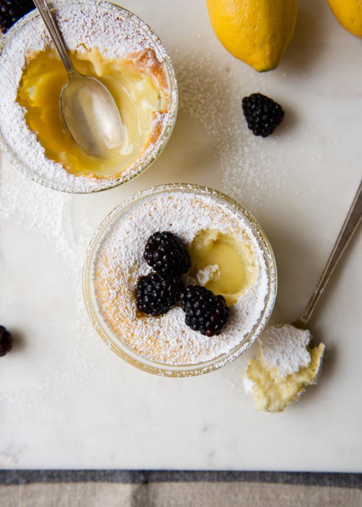 Dessert For Two: Fluffy Lemon Pudding | DesignMom.com