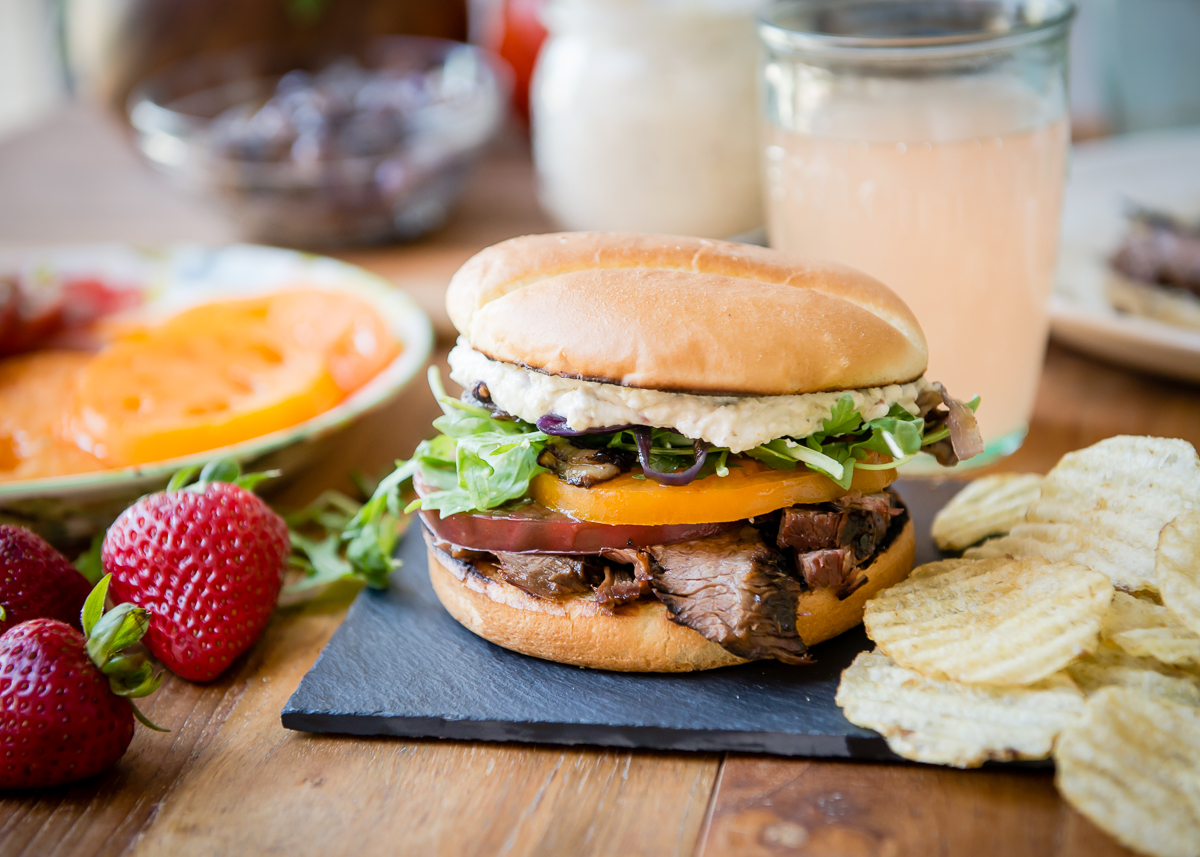 Marinated Grilled Flank Steak Sandwiches