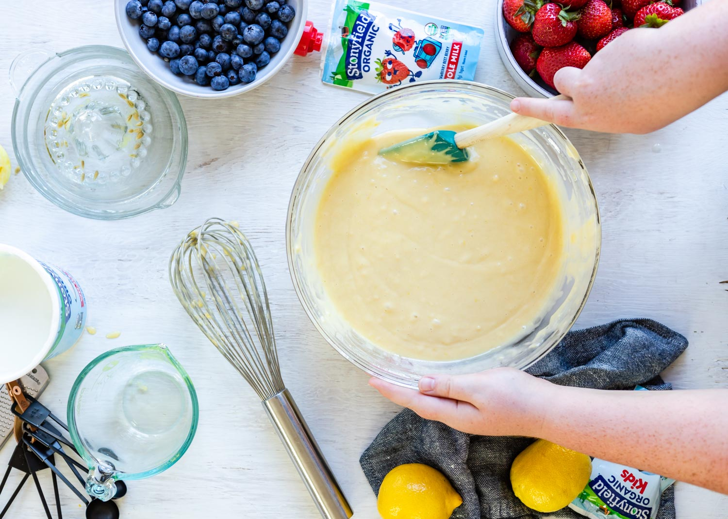 Recipe: Yogurt Lemon Sheet Cake Kids Can Make All By Themselves featured by popular lifestyle blogger Design Mom