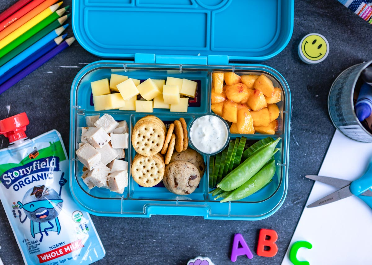 Stonyfield Kids | Organic | Three Lunch Box Ideas for Three Age Groups — from Pre-K through 6th Grade featured by popular design and mom blogger Design Mom
