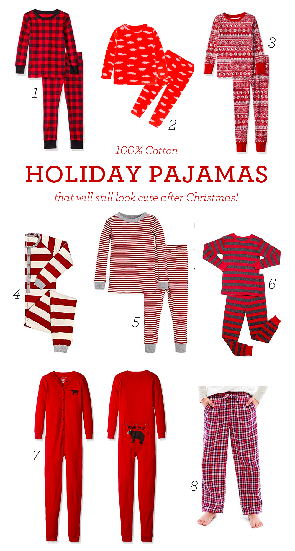 100% Cotton Christmas Pajamas for Everyone in the Family | Design Mom