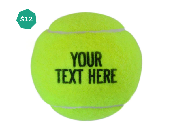 Top Gift Ideas for Teens featured by top life and style blog, Design Mom: image of custom tennis balls