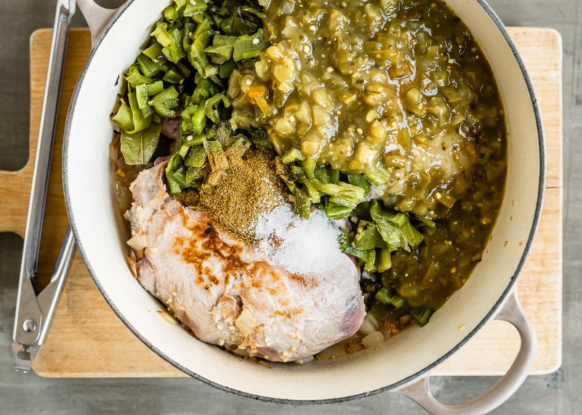Chile Verde Slow Cooked Pork Shoulder | DesignMom.com